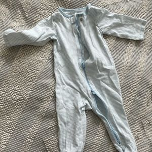 Footed striped onesie